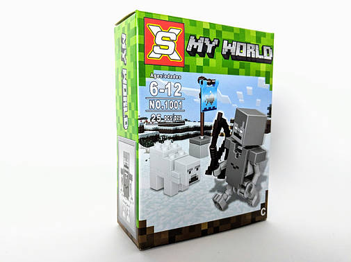 Конструктор My World 27 дет. ( копия Minecraft) NO.1001-3, фото 2