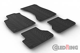 Резиновые коврики Gledring для Audi A4 (B9)(mkV) 2015→ (GR 0252)