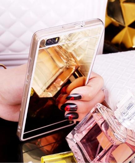 Зеркальный силиконовый чехол для Huawei P8 Lite (2017) (PRA-LA1)