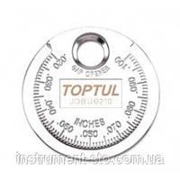 """Приспособление типа """"монета"""" для проверки зазора между елетрод. cвечи JDBU0210 (Toptul, Тайвань)"""