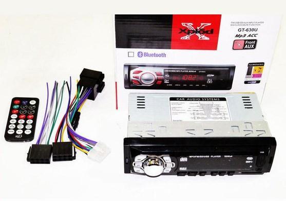 Автомагнитола GT-630U ISO + MP3 / Usb /Sd / Fm / Aux / пульт (4x50W)