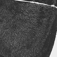 Искусственный мех черный для пошива разных меховых изделий сублимация мех-3