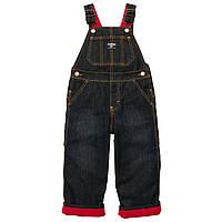 Детский  джинсовый комбинезон на флисе 12 месяцев