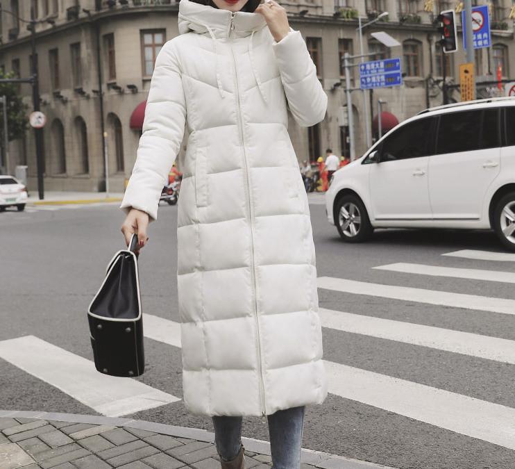 Куртка зимова жіноча біла, довгий пуховик розмір 48 (4XL) СС-8465-15