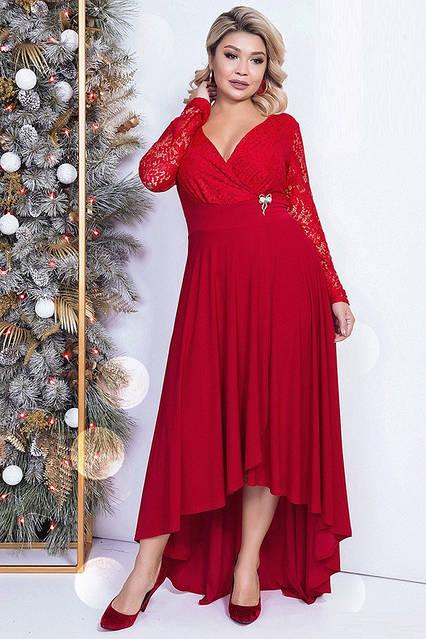 Самое роскошное вечернее платье 41725 (48–58р) в расцветках, фото 3