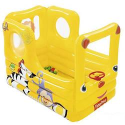 """Детский надувной игровой центр """"Школьный автобус"""" с шариками"""