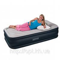 Надувная односпальная кровать Intex 67732 с насосом
