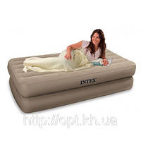 Надувная односпальная кровать Intex 66708 с насосом
