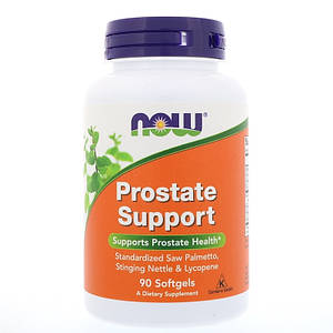 NOW Prostate Support 90 softgels, НАУ Простат Суппорт 90 капсул