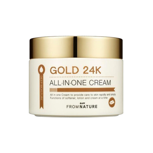 Крем с коллоидным золотом From Nature Deep Moisture Gold 24K All In One Cream
