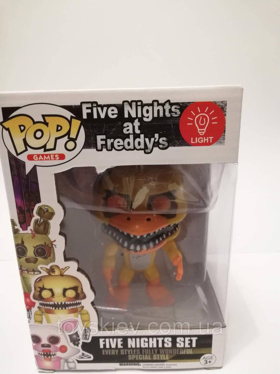 Игрушки 5 пять ночей с Фредди, Фредди / Funko Five Nights at Freddy's, Freddy 2011-1 свет эффекты.