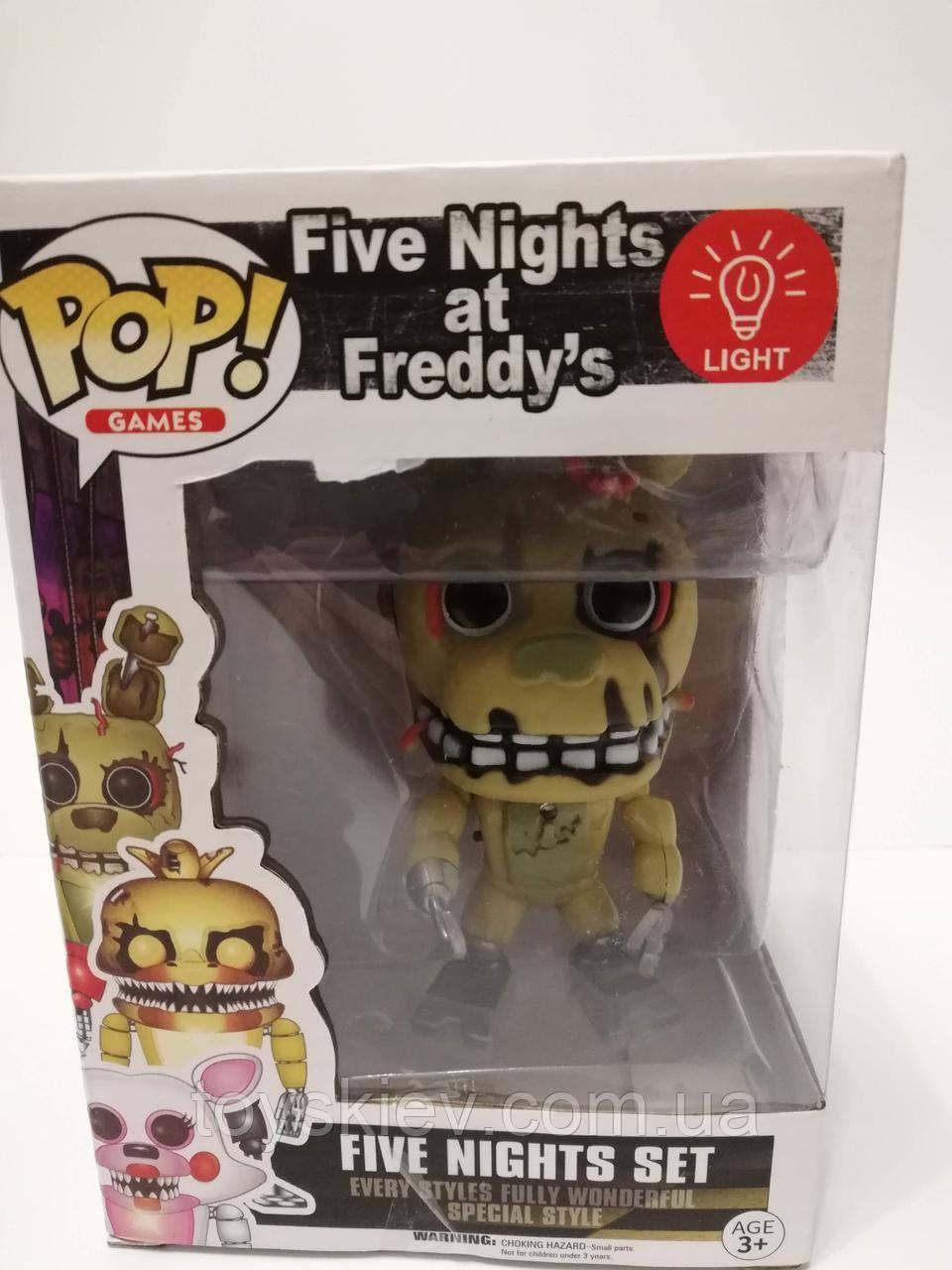 Игрушки 5 пять ночей с Фредди, Фредди / Funko Five Nights at Freddy's, Freddy 2011-2 свет эффекты.