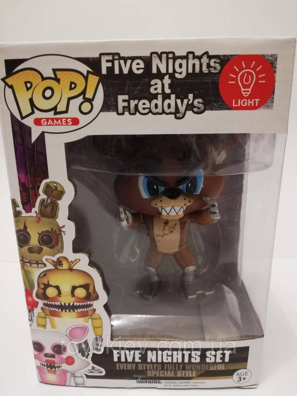 Игрушки 5 пять ночей с Фредди, Фредди / Funko Five Nights at Freddy's, Freddy 2011-3 свет эффекты.