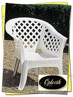 """Кресло пластиковое """"Lario"""" белое"""