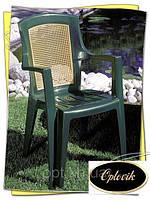 """Кресло пластиковое """"Viola"""" зелёное"""