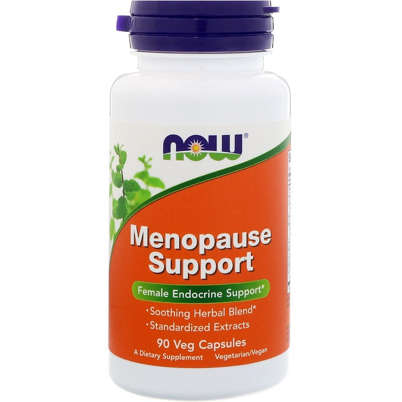 NOW Menopause Support 90 veg caps, НАУ Менопауз Суппорт 90 капсул