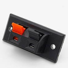 Аудио разъем пружинный двойной под провод 2 pin 45x21