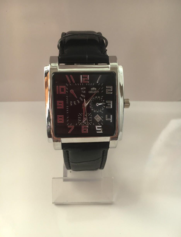 Мужские наручные часы Orient (Ориент), серебристо-черный цвет ( код: IBW101SB )