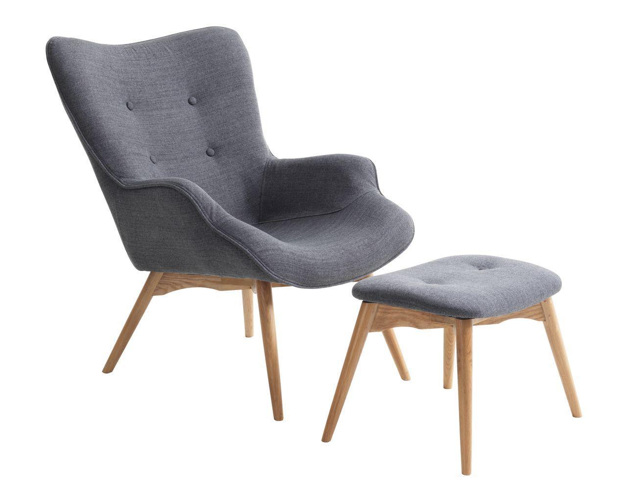 Кресло с пуфиком для ног