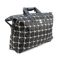 Сумка дорожная текстильная стеганая женская черная 5338
