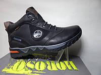 Ботинки мужские зимние мех черные