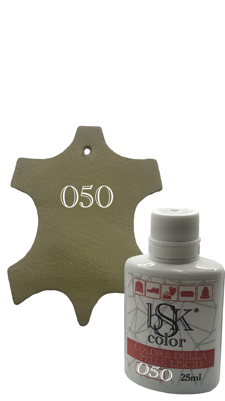 Краска для гладкой кожи «bsk-color» 25 мл, цвет зелено-коричневый №050