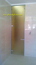 Стеклянные двери (коробка алюминиевая)