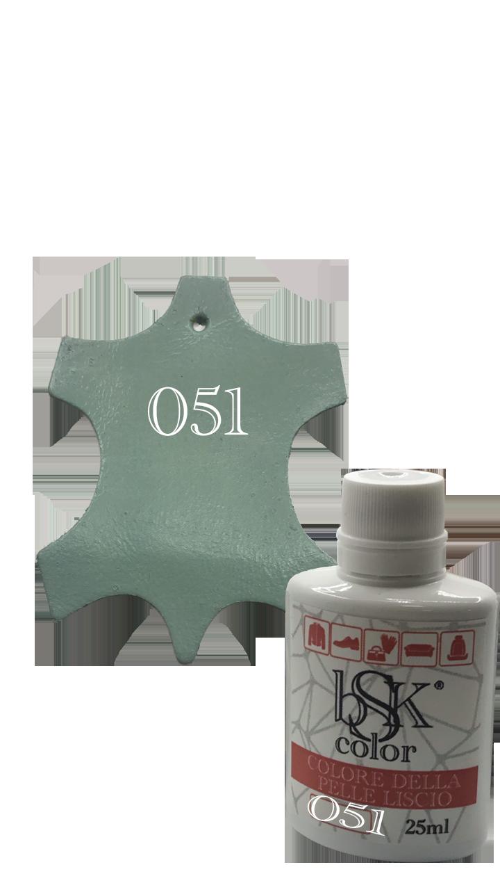 Краска для кожи bsk-color 25ml , цвет пастельно-голубой №051