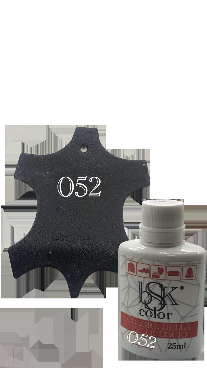 Краска для кожи bsk-color 25ml цвет чёрно-синий  №052