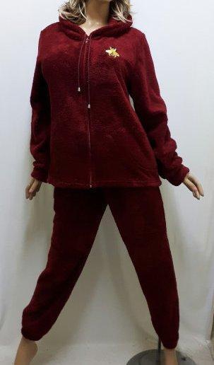 Домашняя одежда для женщин, Женская махровая пижама на змейке. Размеры от 42 до 56