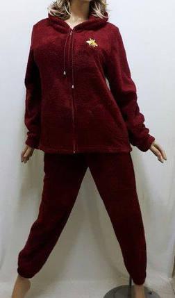 Домашняя одежда для женщин, Женская махровая пижама на змейке. Размеры от 42 до 56, фото 2
