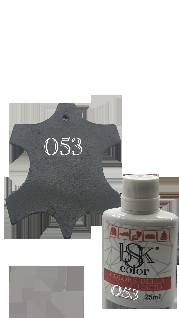 Краска для кожи bsk-color 25ml  №053 графит ( темно-серый)