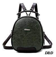 Женская сумка-рюкзак зеленая, фото 1