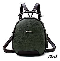 Жіноча сумка-рюкзак зелена, фото 1