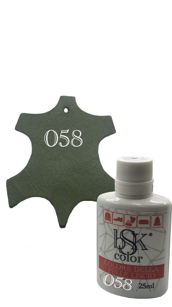 Краска для кожи цвет хаки Bsk color №058 25 мл