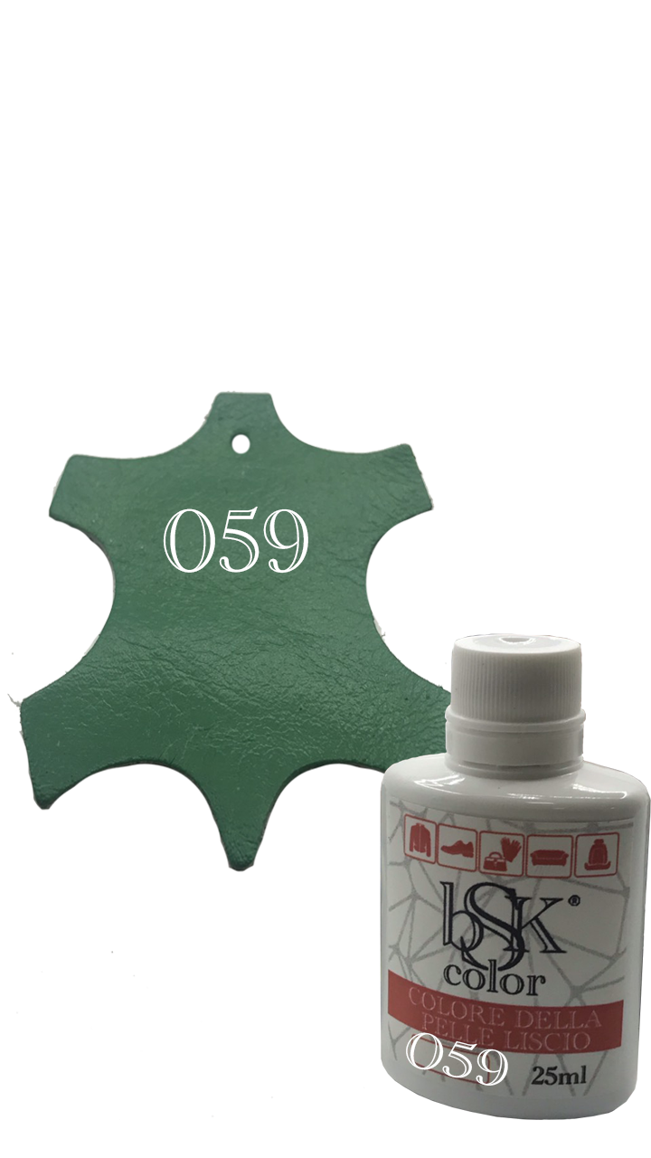 Краска для гладкой кожи бирюзово-зеленая Bsk color №059 25 мл