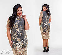 Платье женское нарядное кружевное в расцветках  3335, фото 1