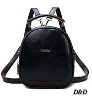 Женская сумка-рюкзак черный, фото 1