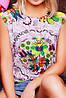 """Повседневная летняя серо-черная футболка без рукавов с абстрактным цветочным принтом """"Classic"""" , фото 2"""