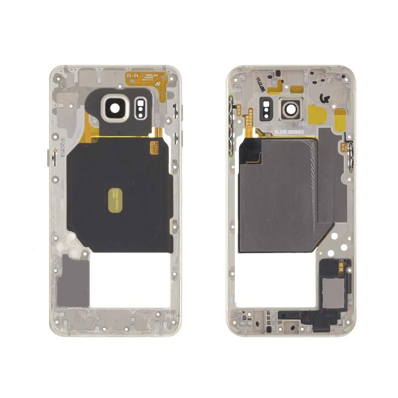 Середня частина корпусу для смартфону Samsung G928F Galaxy S6 EDGE Plus, біла
