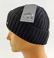 Вязаная шапка мужская с отворотом топовой фирмы ELLAN размер универсальный 97a795799cda7