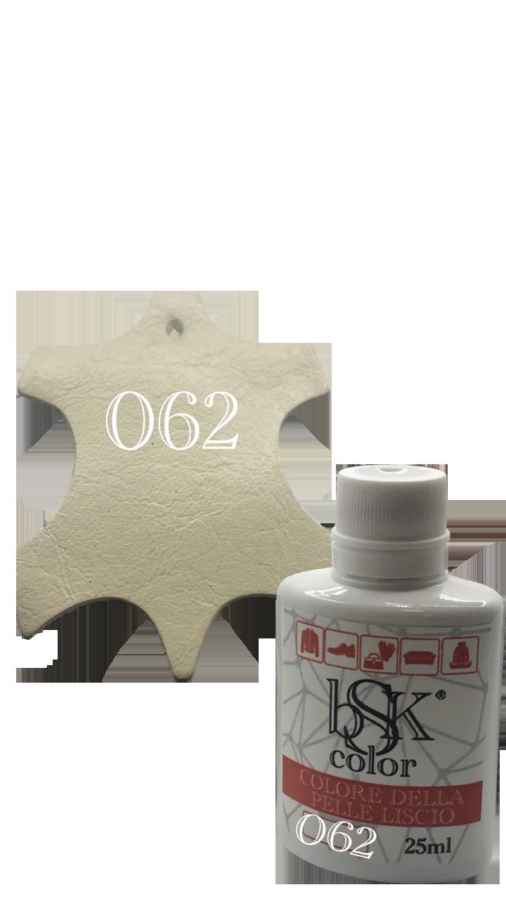 Краска для гладкой кожи цвет яичная скорлупа Bsk color №062 25 мл