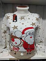 Новогодний свитер Санта и Рудольф р. 44-50 Турция
