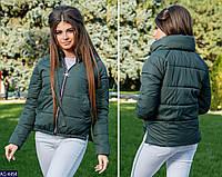 Женская теплая короткая куртка силикон 200, фото 1