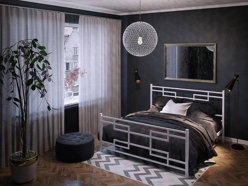 Кровать Фавор металлическая двуспальная TM Tenero