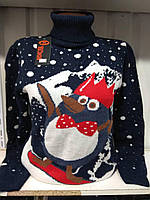 Новогодний свитер Пингвин на борде р. 44-50 Турция