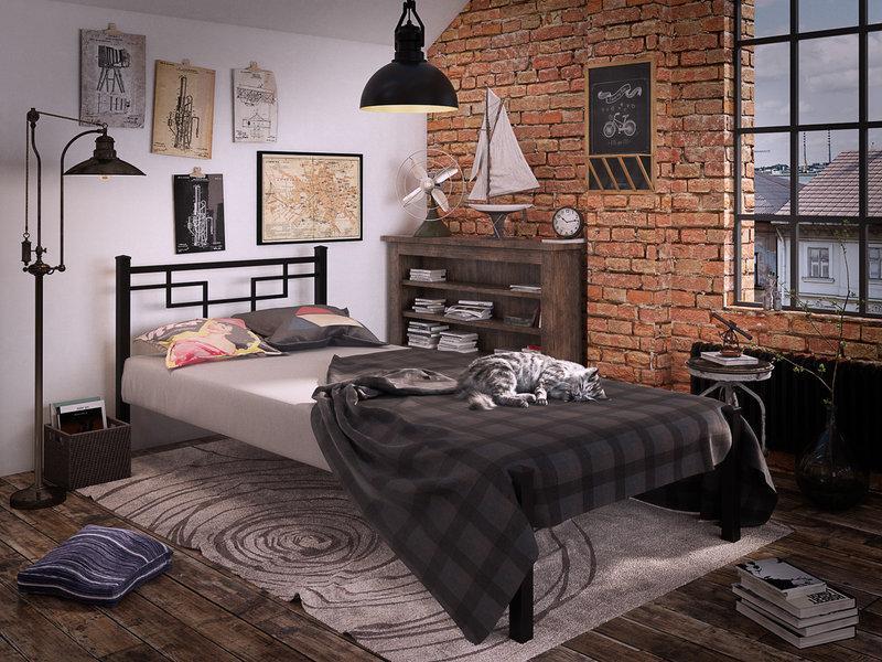 Кровать Фавор Мини металлическая односпальная TM Tenero