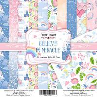 Набор бумаги для скрапбукинга Фабрика декора Believe in miracle, 30х30см, фото 1