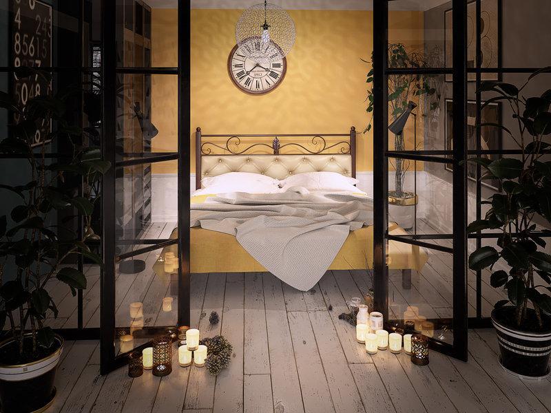 Кровать Диасция металлическая двуспальная TM Tenero