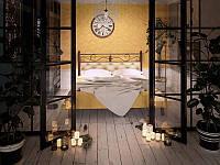 Кровать Диасция металлическая двуспальная TM Tenero, фото 1